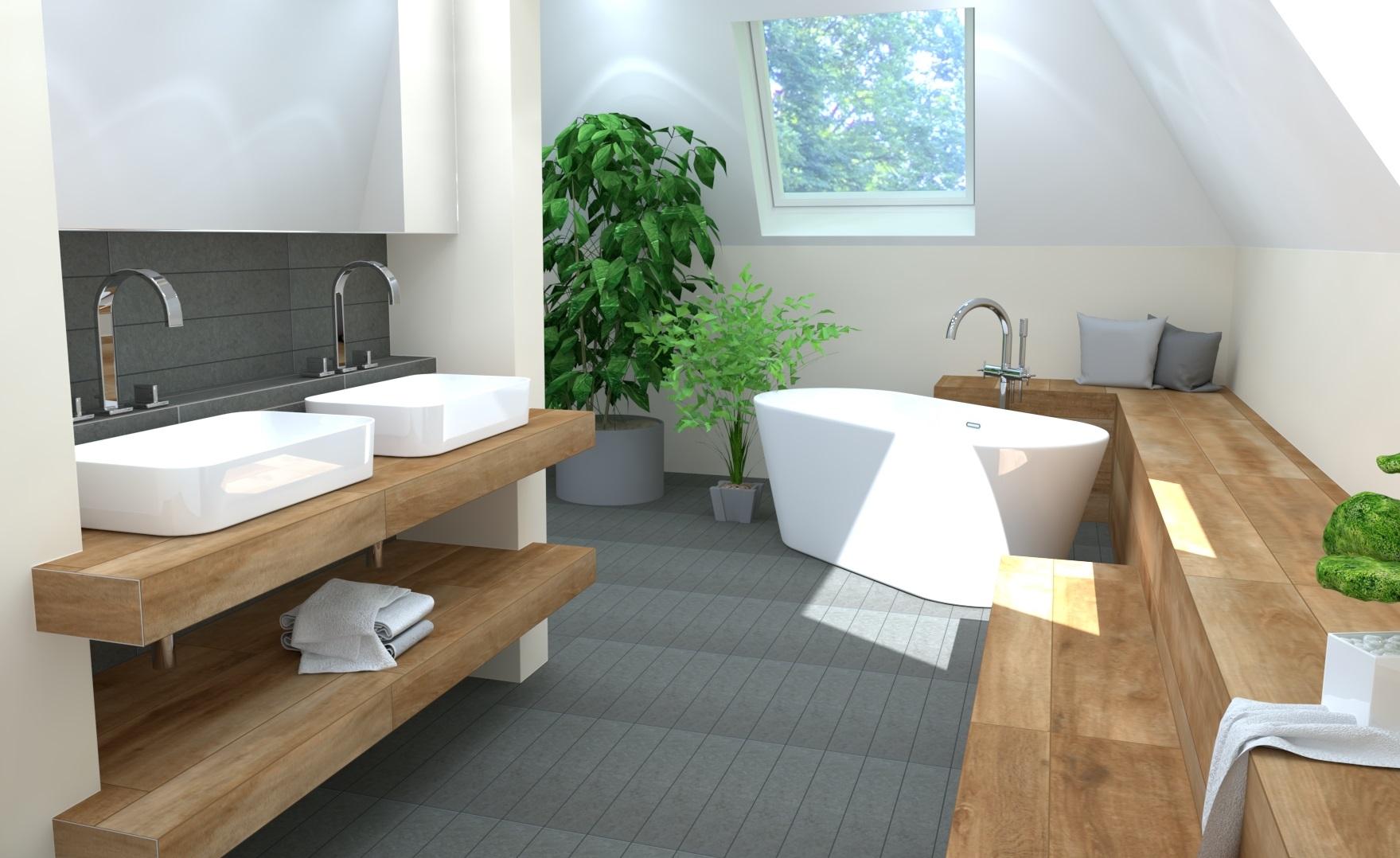 Badezimmer mit Holz Hannover
