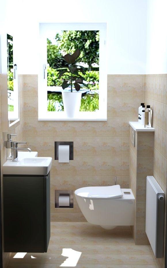 Wandfliesen im kleinen Badezimmer