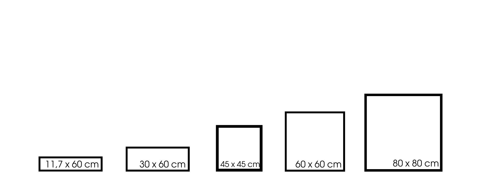 Größen Ombré