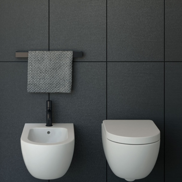 Wandmontiertes WC randlos 48cm