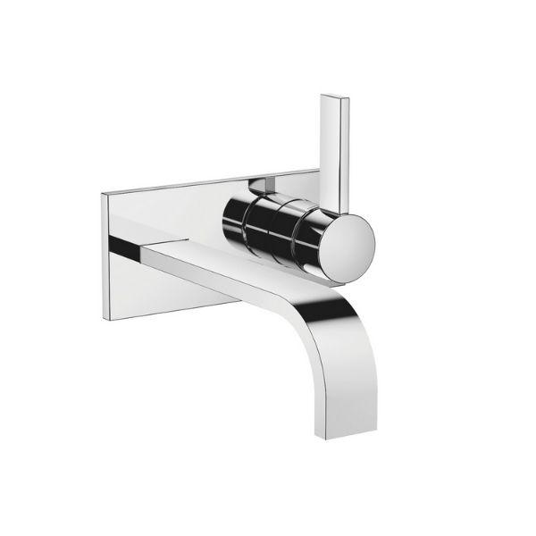 Waschtisch-Wand-Einhandbatterie mit Abdeckplatte ohne Ablaufgarnitur